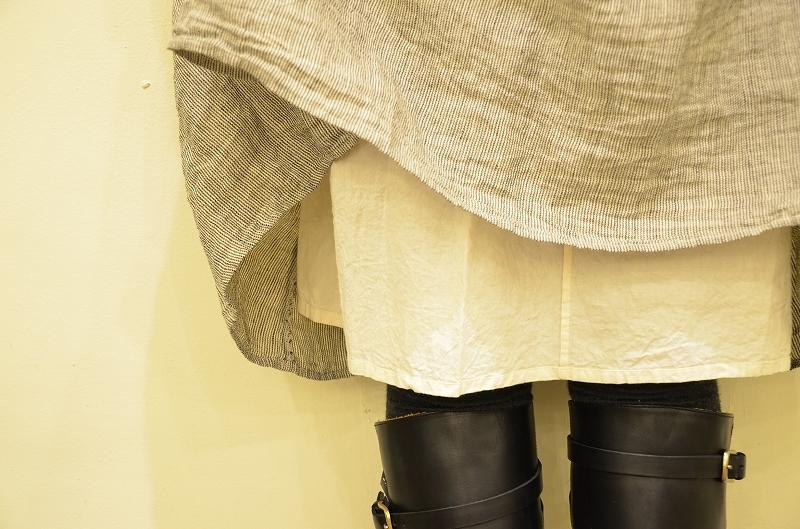 ・・・R&D.M.Co-(オールドマンズテーラー)/LINEN HERRINGBONE GATHER DRESS・・・_a0256162_16342360.jpg