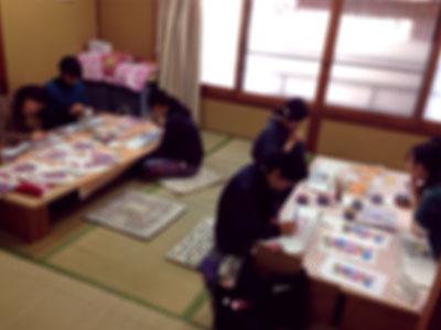 半襟染めの出張教室(京都にて♪)_a0079315_8395221.jpg