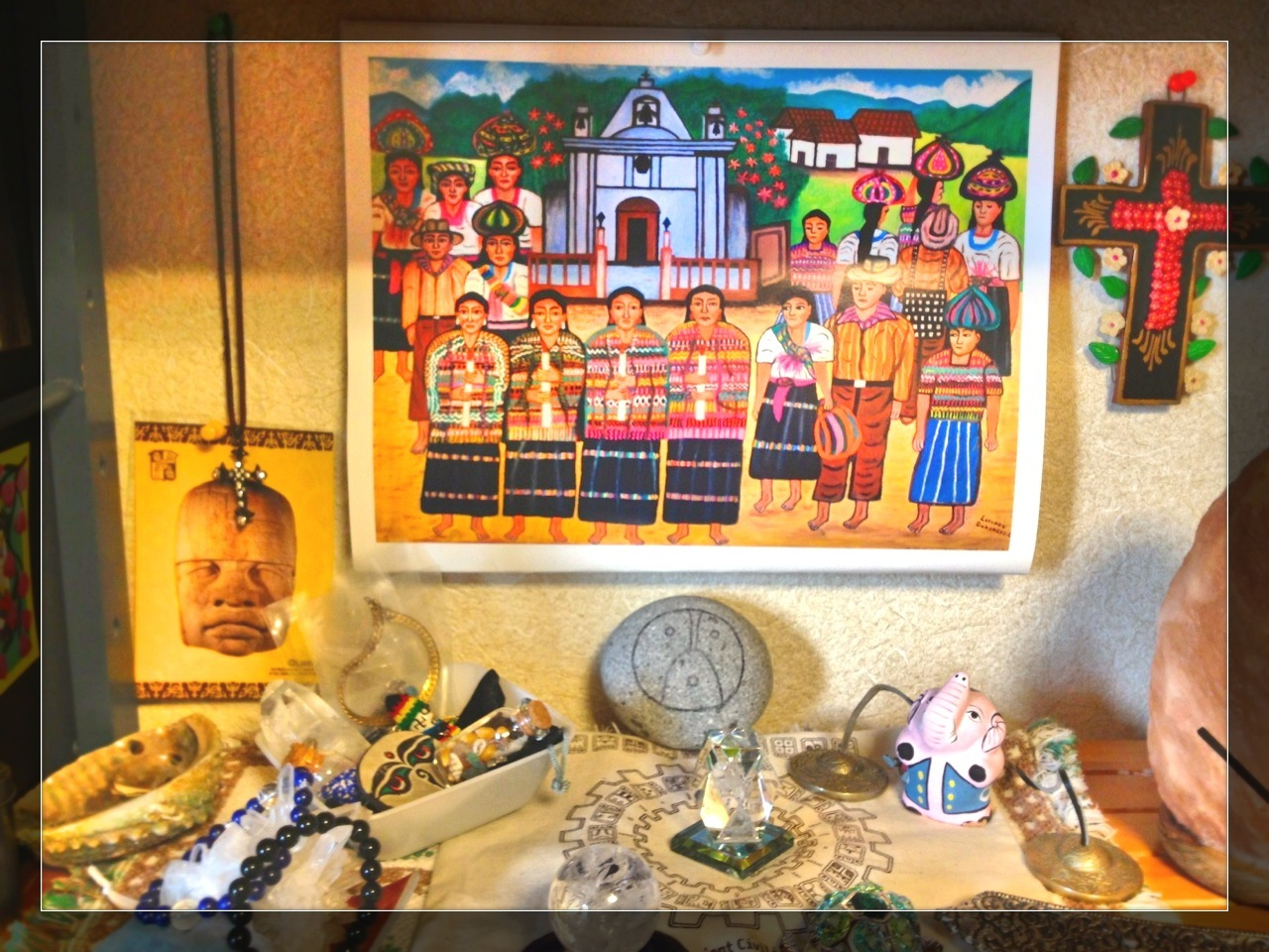 神聖な儀式と冬至と誕生のシンクロ!_b0213435_14424574.jpg