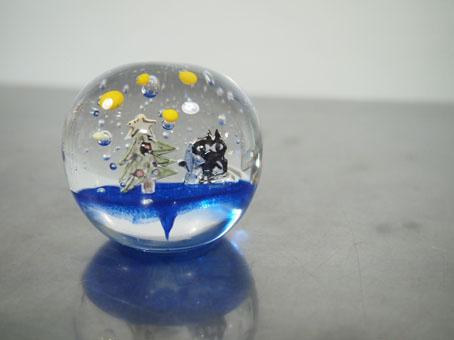 高城加世子さんのペーパーウエイト、クリスマス_b0322280_19583927.jpg