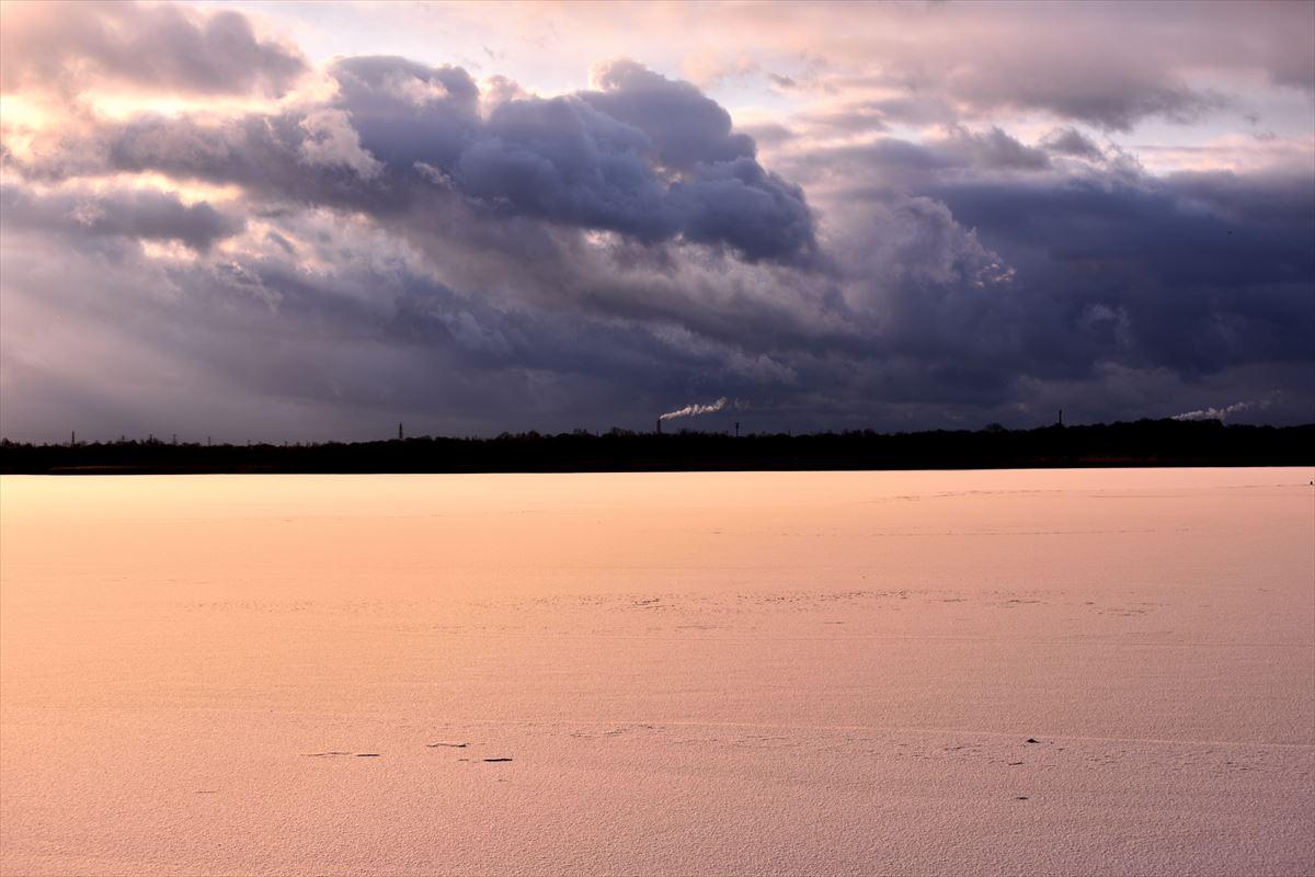 謎なエゾリー ~ 今朝のウトナイ湖_a0145819_12421259.jpg