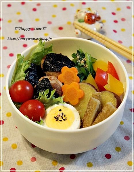 海苔つくね丼風弁当♪_f0348032_17474313.jpg