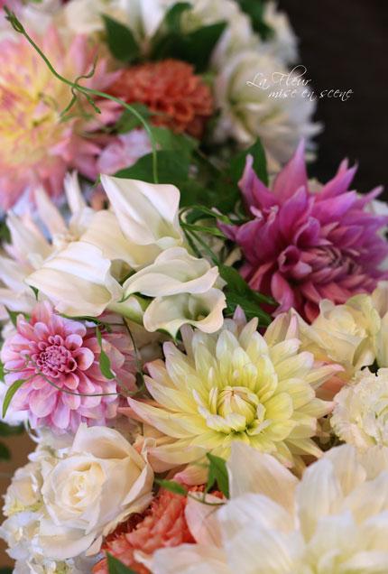 料亭ウエディングの花飾り_f0127281_14491463.jpg
