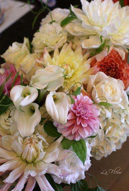 料亭ウエディングの花飾り_f0127281_1450247.jpg