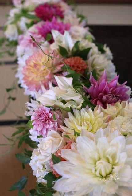 料亭ウエディングの花飾り_f0127281_1451458.jpg