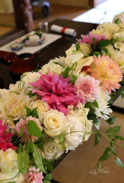 料亭ウエディングの花飾り_f0127281_14523635.jpg