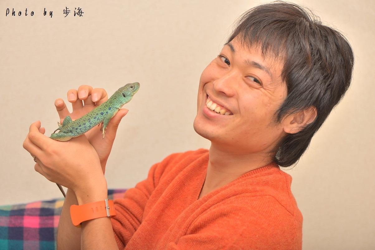 ホウセキカナヘビの1種をもらう_b0348205_06320299.jpg