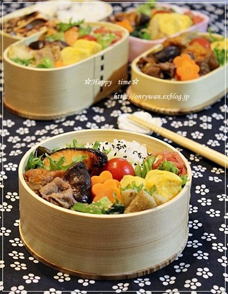 鮭の西京焼きとすき煮弁当とココアシフォン♪_f0348032_19031395.jpg