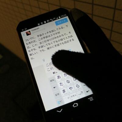 手袋したままスマホ操作できるのは便利だね_c0060143_2342202.jpg