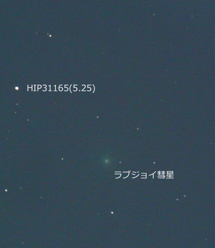 ラブジョイ彗星(C/2014 Q2)、順調に増光中っぽい(2014年12月19日)_e0089232_03404230.jpg