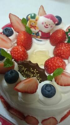 今年初のクリスマスケーキ_a0113430_6142038.jpg
