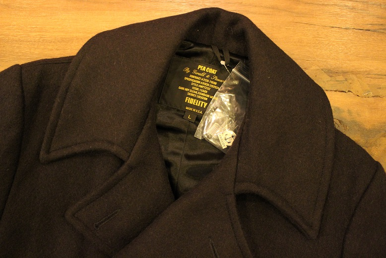 "FIDELITY ""22oz MEDIUM PEA COAT\"" ご紹介_f0191324_950895.jpg"