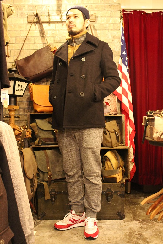 "FIDELITY ""22oz MEDIUM PEA COAT\"" ご紹介_f0191324_951451.jpg"