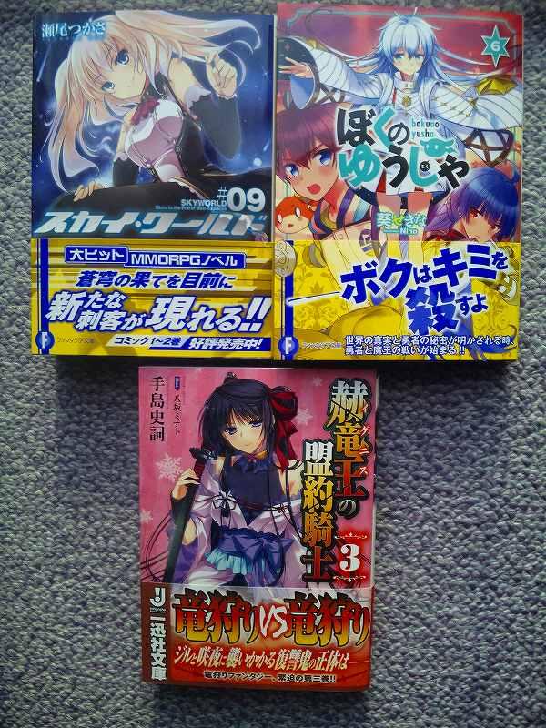 昨日は富士見ファンタジア文庫と一迅社文庫の発売日でした_e0172041_20223132.jpg