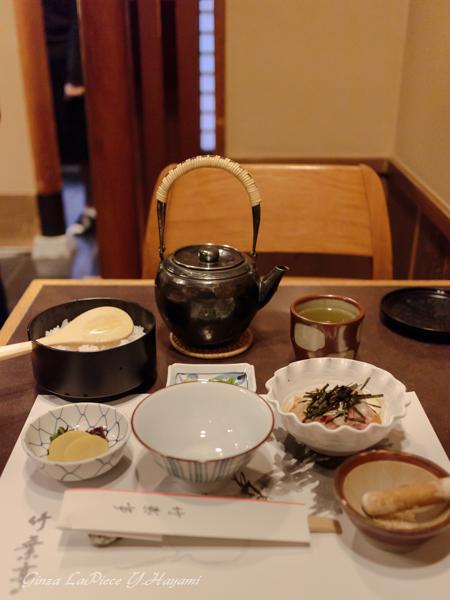 銀座ディナー 竹葉亭銀座店 鯛茶漬け_b0133053_043241.jpg