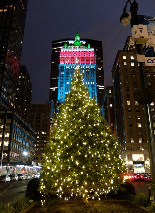 丸ごとクリスマス・ライトアップされるグランドセントラル駅のビル_b0007805_19254568.jpg