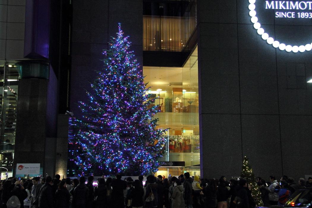 あと2日、銀座のジャンボクリスマスツリー_b0190710_22595175.jpg