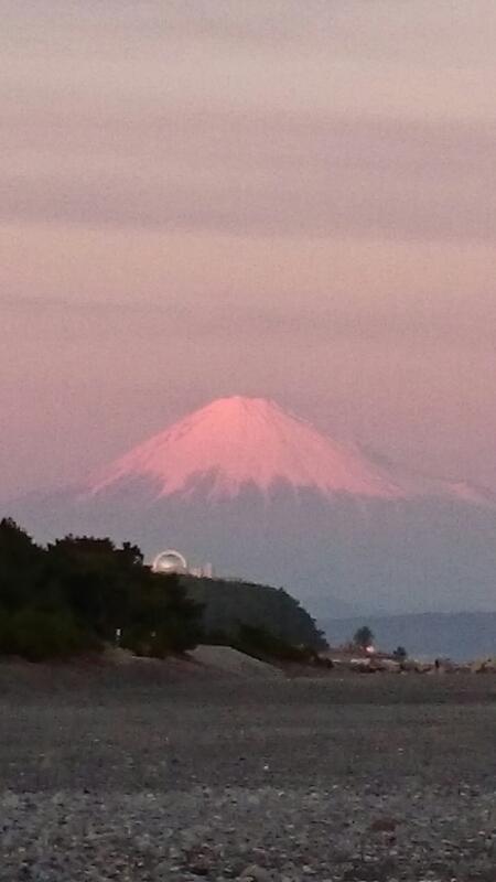 夕焼けがきれいだったので、_b0093515_235351100.jpg