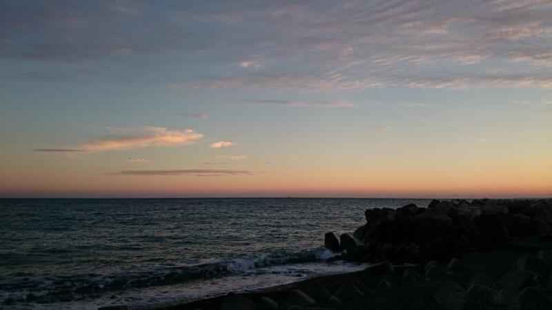 夕焼けがきれいだったので、_b0093515_23542392.jpg