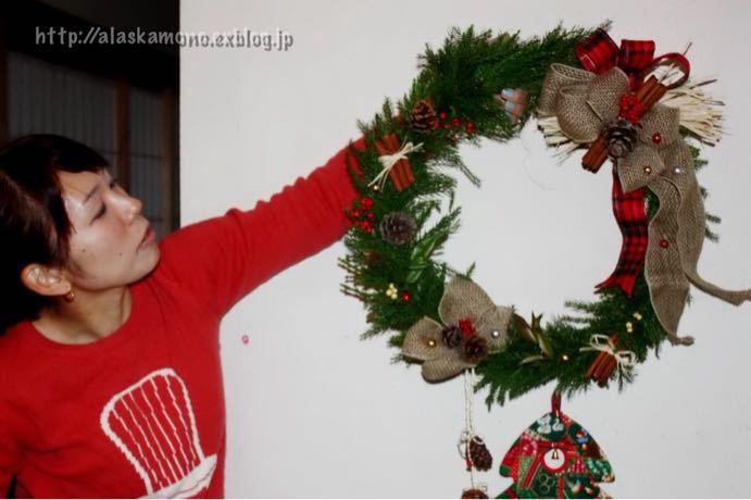 クリスマスリース_a0088116_1313067.jpg