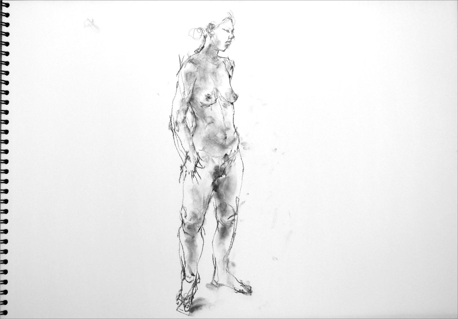 《 クロッキー(croquis)する。Ⅳ ・・・ 「裸婦素描」》 _f0159856_10192951.jpg