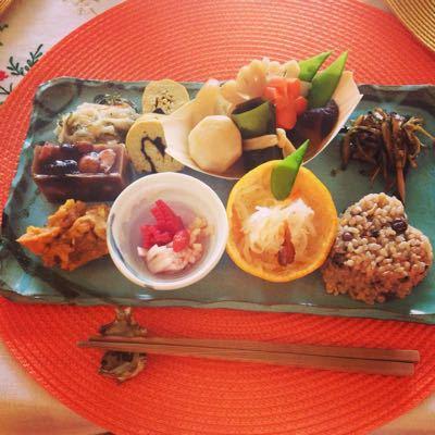 開運、マクロ美料理お節♡ & マリア様に感謝♡_f0095325_1223065.jpg