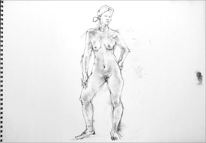 《 クロッキー(croquis)する。Ⅴ ・・・ 「裸婦素描」2 》  _f0159856_84831100.jpg