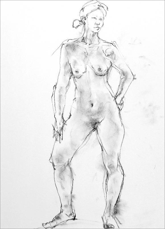 《 クロッキー(croquis)する。Ⅴ ・・・ 「裸婦素描」2 》  _f0159856_8484245.jpg