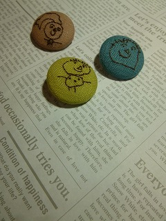 embroidery     くるみボタンをインテリアに♪_a0165160_07135179.jpg