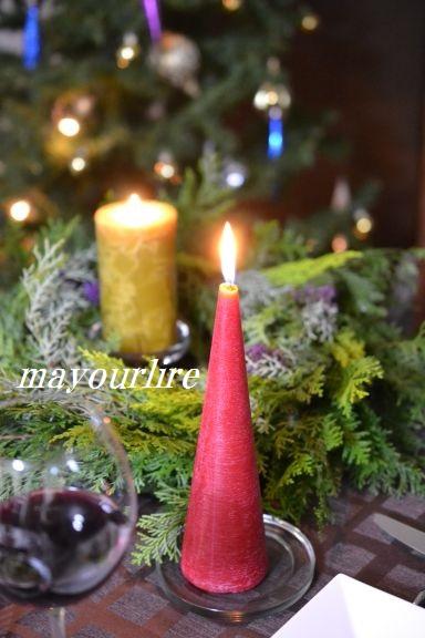 クリスマス キャンドル卓♪_d0169179_2393825.jpg