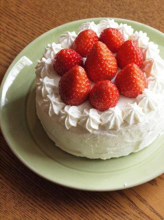 苺のクリスマスケーキ +ヘクセンハウス_b0254207_19454259.jpg