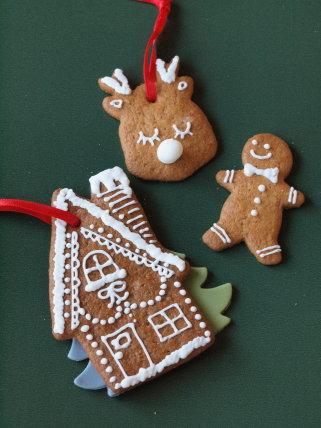 苺のクリスマスケーキ +ヘクセンハウス_b0254207_19491128.jpg