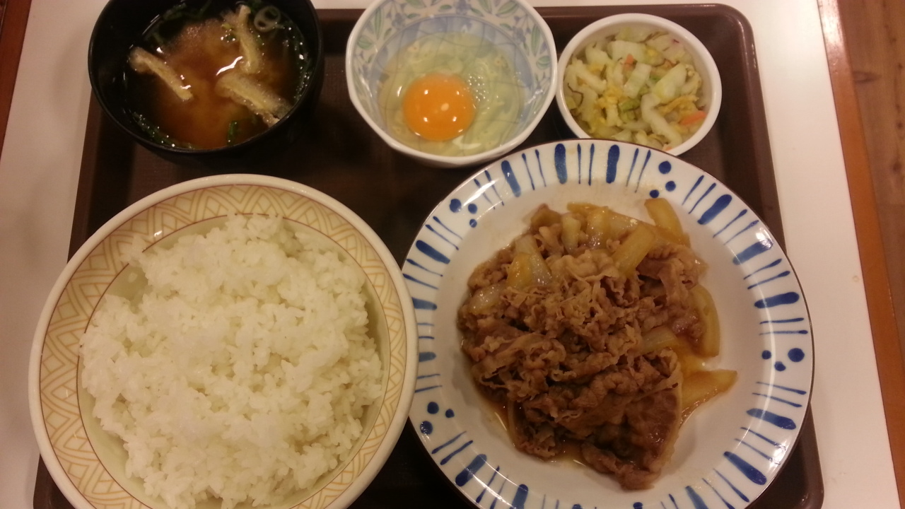 12/24 牛皿定食(牛皿中盛りライス大盛り)¥615@すき家_b0042308_059297.jpg