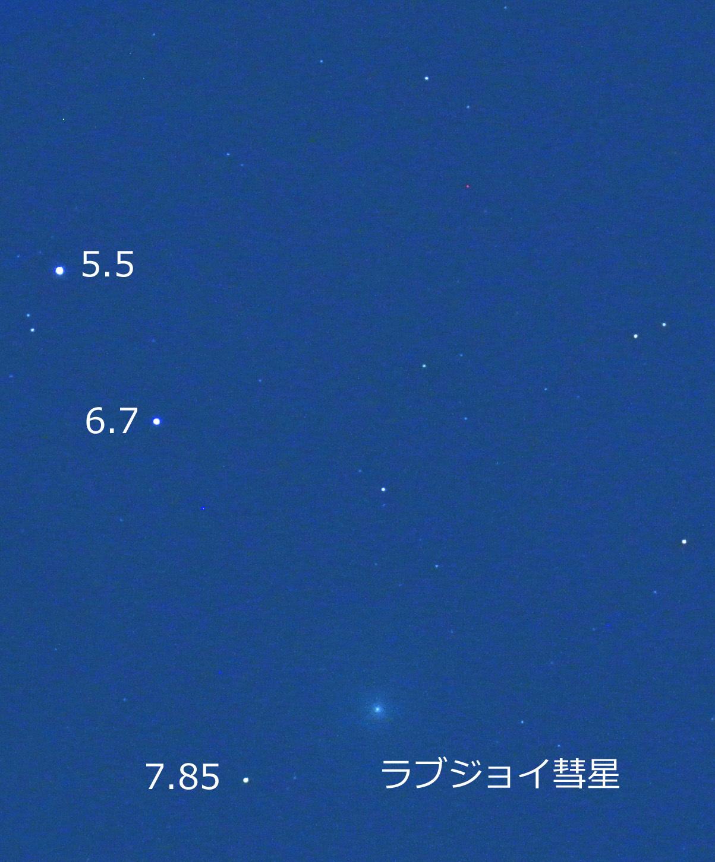 ラブジョイ彗星(C/2014 Q2)@はと座(2014年12月24日)_e0089232_00111243.jpg
