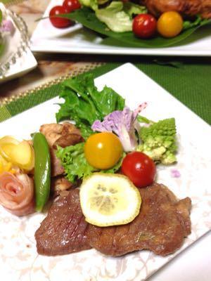 クリスマスのテーブル:白いツリーサラダ_e0086864_0515526.jpg
