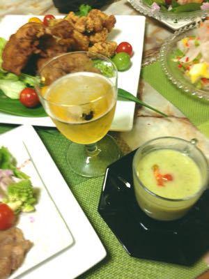 クリスマスのテーブル:白いツリーサラダ_e0086864_051569.jpg