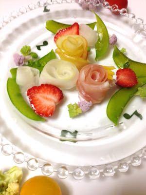 クリスマスのテーブル:白いツリーサラダ_e0086864_0515787.jpg