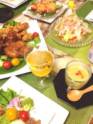 クリスマスのテーブル:白いツリーサラダ_e0086864_051589.jpg