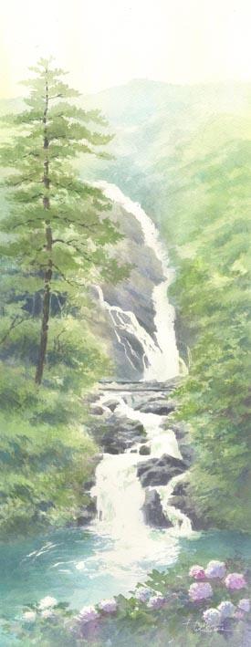 見返りの滝 水彩画 春崎陽子_f0176370_16235942.jpg