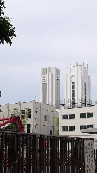 時計台が、2台 村田 由美子さん 木月で撮影