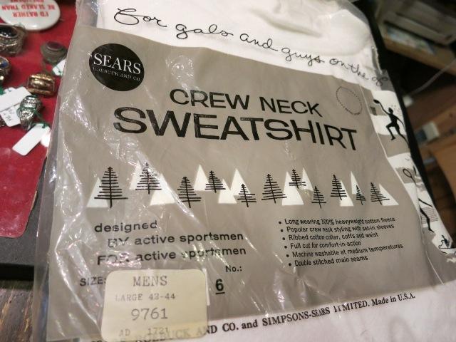 12/27(土)入荷!50-60'S デッドストック SEARS SPORTS WEAR スエットシャツ!_c0144020_16475773.jpg