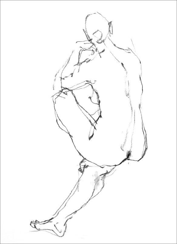 《 クロッキー(croquis)する。Ⅵ ・・・ 「裸婦線描」》 _f0159856_21152818.jpg