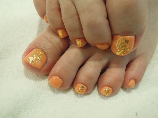 Orange Nail_a0239065_17435536.jpg
