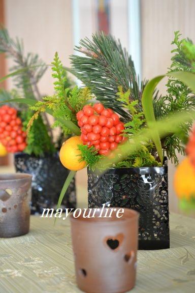 12月 テーブルコーディネート マユールライラ 海吉教室_d0169179_2239240.jpg