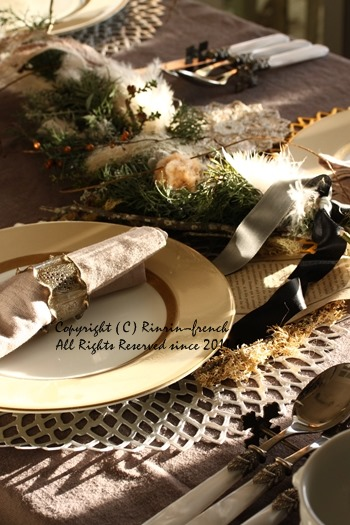 クリスマスのテーブル 2014 不思議な森に包まれて_e0237680_20205535.jpg