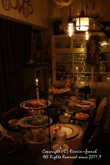 クリスマスのテーブル 2014 不思議な森に包まれて_e0237680_20274055.jpg