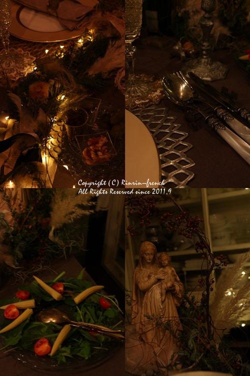 クリスマスのテーブル 2014 不思議な森に包まれて_e0237680_20284846.jpg