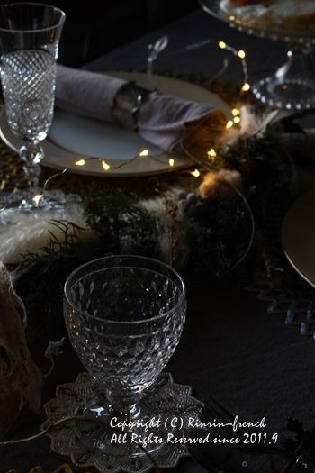 クリスマスのテーブル 2014 不思議な森に包まれて_e0237680_20291180.jpg