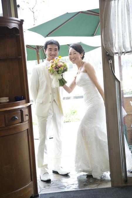 秋の装花 結婚式、楽しく過ごした一日に 雨上がり オレアジ様へ_a0042928_1904385.jpg