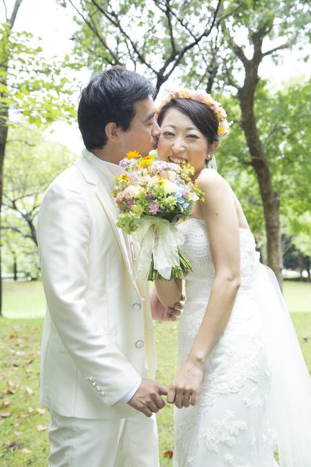 秋の装花 結婚式、楽しく過ごした一日に 雨上がり オレアジ様へ_a0042928_191858.jpg